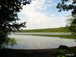 Plaukimo pradžia prie Baluošo ežero